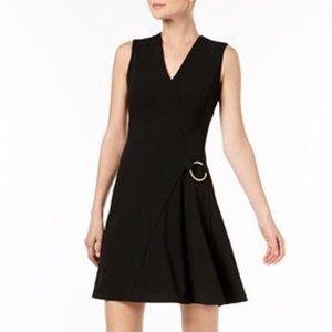 NWOT CALVIN KLEIN V-Neck O-Ring Dress 8